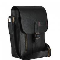 Мужская сумка из натуральной кожи Vittorio Safino черная VS 001, фото 1