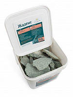 Камень жадеит колотый средний (ведро 10 кг) для электрокаменки