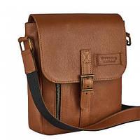 Мужская сумка из натуральной кожи Vittorio Safino рыжая VS 001, фото 1