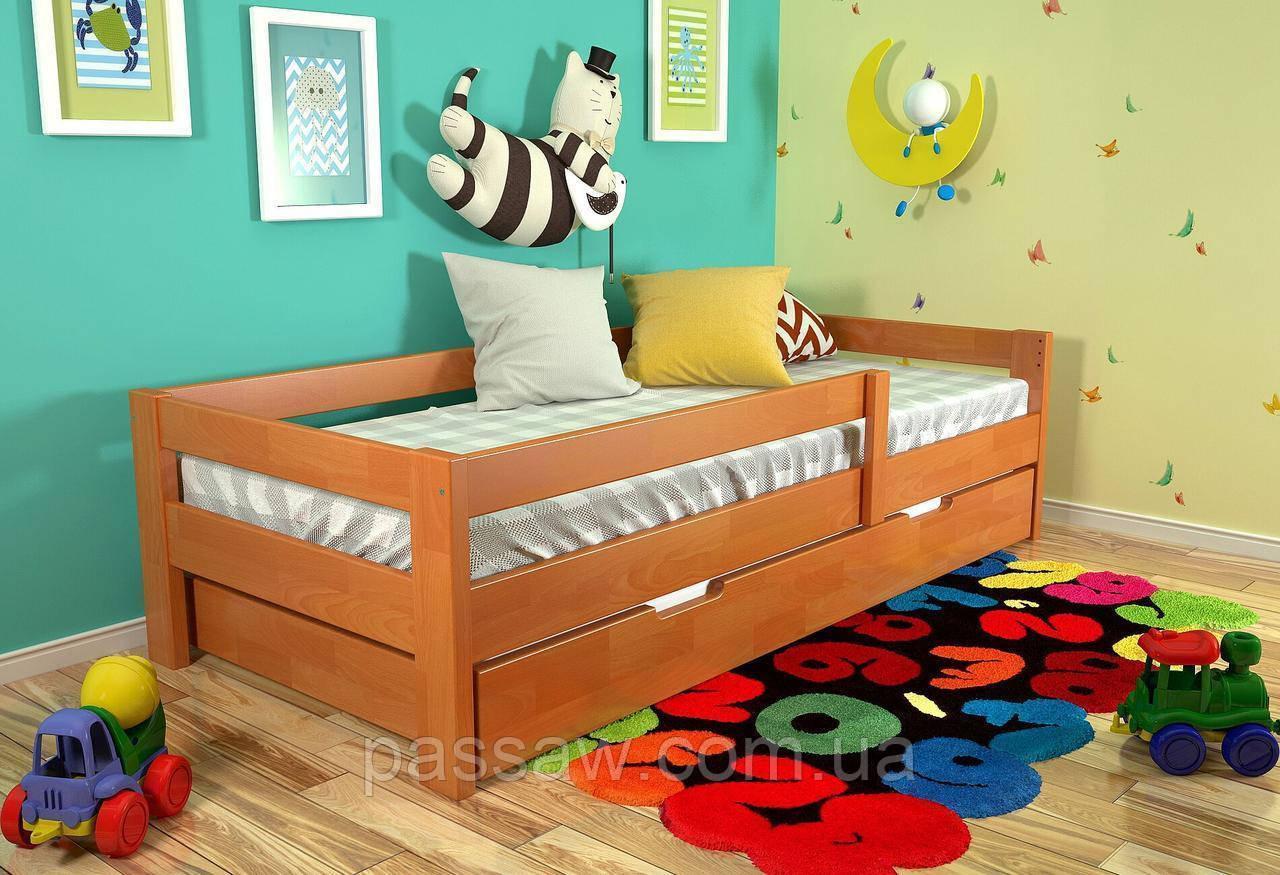 """Кровать деревянная """"Альф"""" 0,8*1,9 бук"""