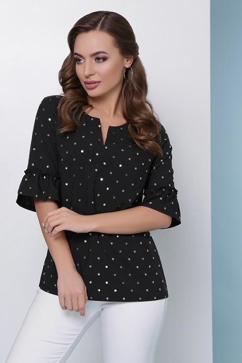 Блуза Жози черный (42-50)
