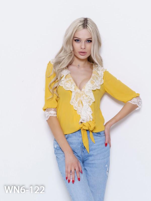 Горчичная блуза Код WN6-122