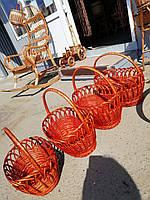 Комплект пасхальных корзин плетеных из лозы