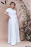 Элегантное женское летнее платье длинное в пол 48,50,52р.(7расцв), фото 2
