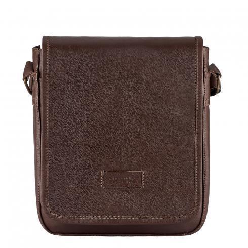 Мужская сумка из натуральной кожи Vittorio Safino, коричневая VS 021