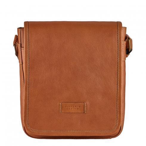 Мужская сумка из натуральной кожи Vittorio Safino, рыжая VS 021