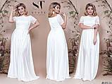 Прекрасное вечернее женское длинное платье 48-52р.(9расцв), фото 4