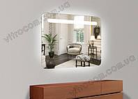 Дзеркало led-1 з підсвічуванням 65х70 см, фото 1