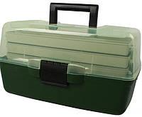 Ящик рыболовный для снастей AQT-1703T трехъярусный, с прозрачной крышкой