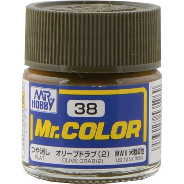 Оливково-коричневый матовый.10мл. MR.COLOR C38