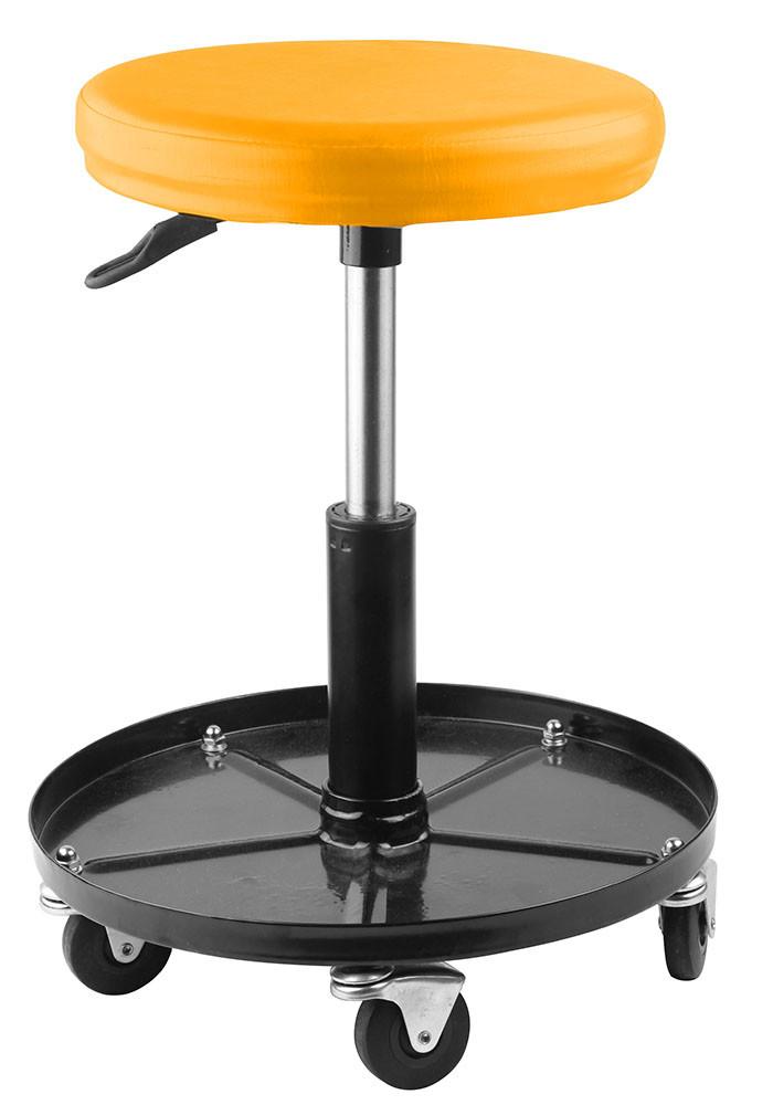 Пневматический стул Tolsen на колесах 150 кг (65495)