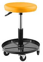 Пневматический стул Tolsen на колесах 150 кг (65495), фото 1