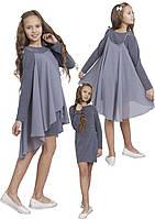 """Платье  для девочки с рукавом   М -1113-1114 рост 128-170 трикотажное тм """"Попелюшка"""", фото 1"""