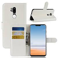 Чехол-книжка Litchie Wallet для LG G7 Белый