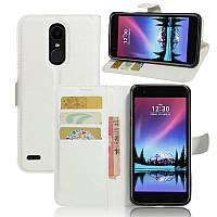 Чехол-книжка Litchie Wallet для LG K10 2017 M250 Белый