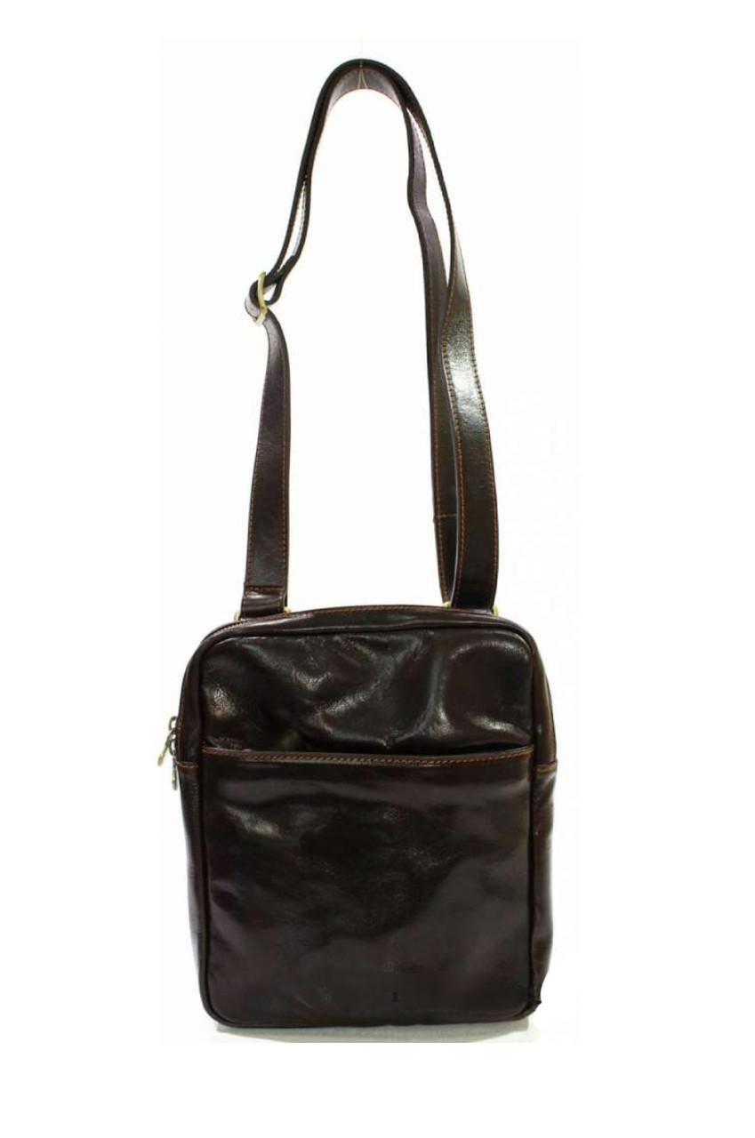 Мужская сумка из натуральной кожи на плечо
