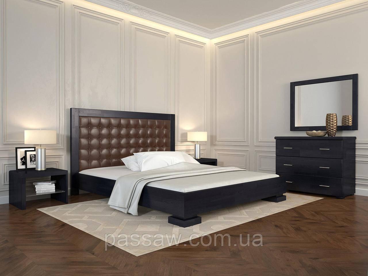 """Кровать деревянная ARBOR DREV  """"Подиум квадраты"""" 1,6 бук"""