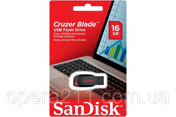 Флешка USB San Disk Cruzer Fit 16gb