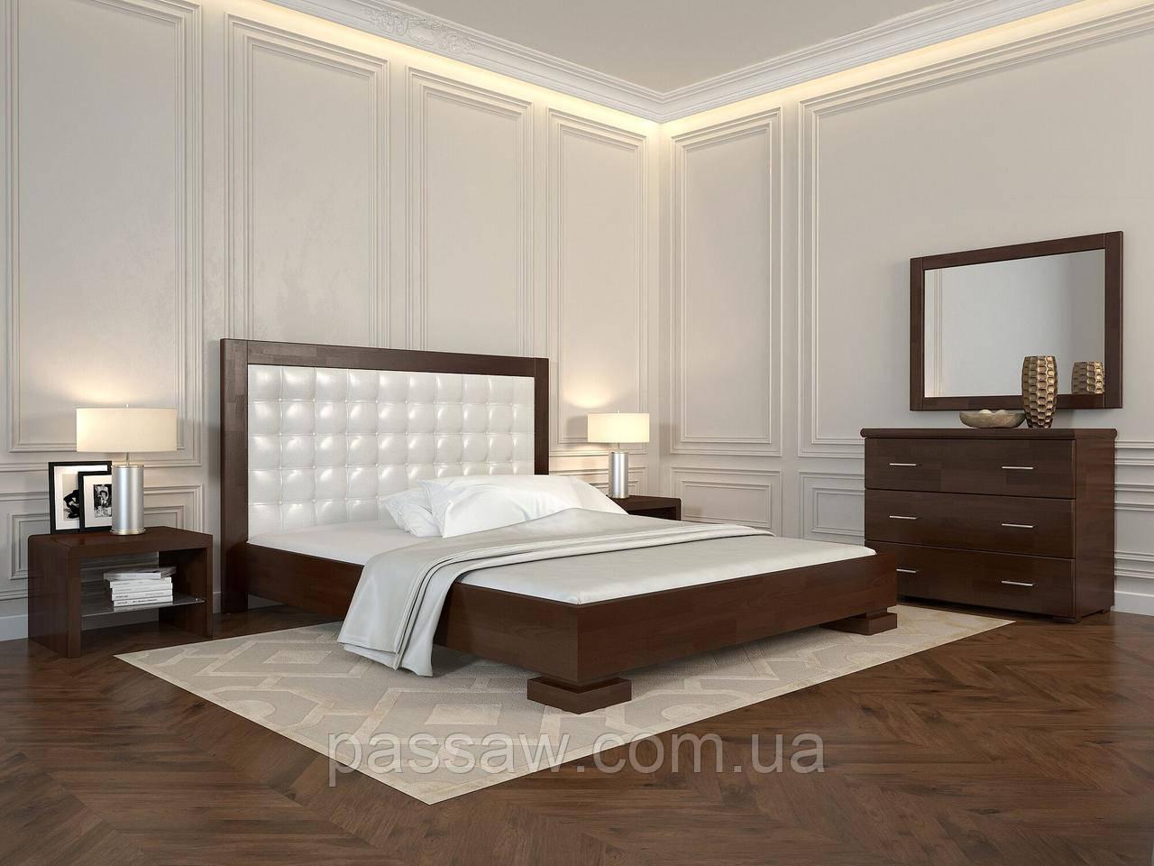 """Кровать деревянная ARBOR DREV  """"Подиум квадраты"""" 1,8 сосна"""