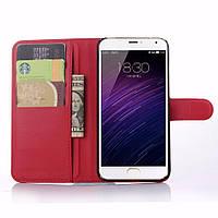 Чехол-книжка Litchie Wallet для Meizu MX5 Красный
