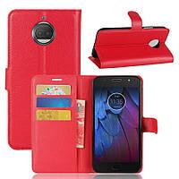 Чехол-книжка Litchie Wallet для Motorola Moto G5s Plus XT1805 Красный