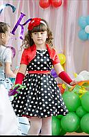 """Платье нарядное выпускное """"Стиляги"""" черное с белым"""