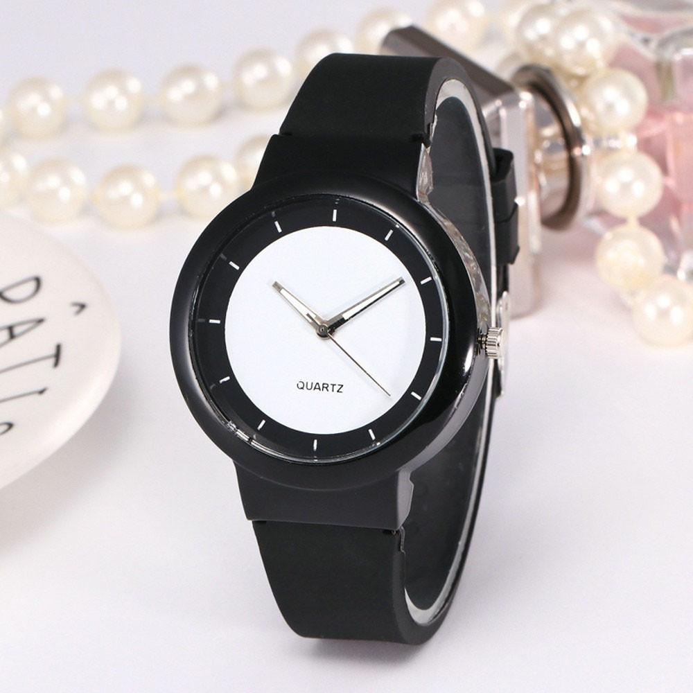 СКИДКА!!! Женские часы, силиконовый ремешок, цвет черный