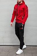 Качественный мужской спортивный костюм в стиле EA7 , красный