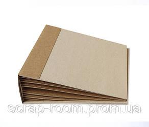Заготовка для создания фотоальбома из крафт картона размером 20*20 см, внутри 6 листов+обложка