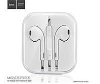 Наушники Hoco M1 с микрофоном original series Earphone for Apple White, фото 1