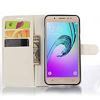 Чехол-книжка Litchie Wallet для Samsung Galaxy J5 2016 (J510) Белый