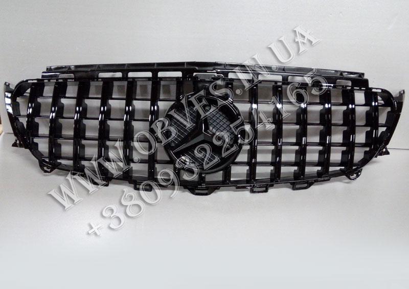 Решетка радиатора Mercedes E-class W213 стиль Panamericana All Black (под камеру)