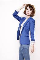 Пиджак Zara синий цвет размер м