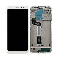 Дисплей (экран) для Xiaomi Redmi Note 5 с сенсором (тачскрином) и рамкой белый