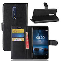 Чехол-книжка Litchie Wallet для Nokia 8 Черный