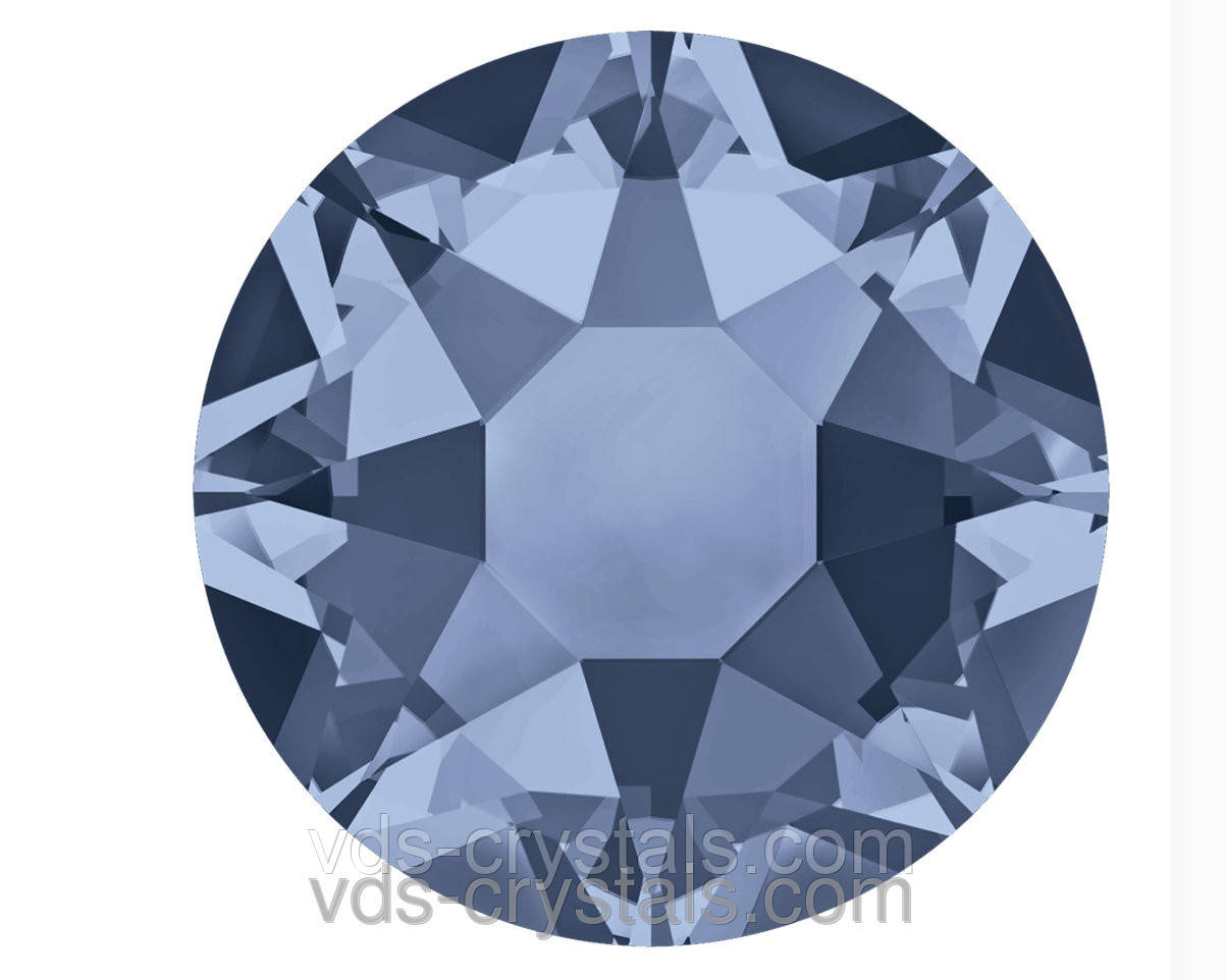 Кристаллы Swarovski клеевые холодной фиксации 2088 Denim Blue F (266) 12ss (упаковка 1440 шт)