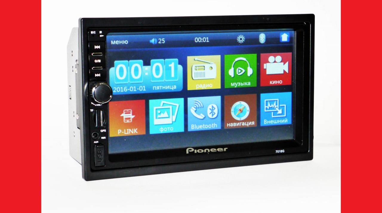 2din автомагнитола Pioneer 7018G GPS НАВИГАЦИЯ + 8Gb карта памяти c навигацией (короткая база)