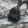 Маленький женский рюкзак стеганный Черный - Фото