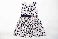 Платье нарядное для девочки р.122,128,140 SmileTime Connie, белое в горошек
