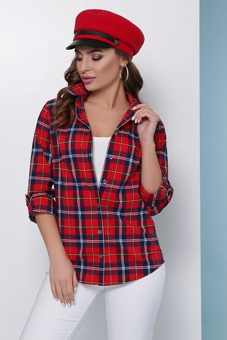Рубашка Нюта красный (42-50)