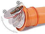Выпускной канализационный обратный клапан 110 мм KARMAT, фото 2