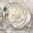 Серебряные родированные серьги кольца диам. 60 мм - Серьги конго диам 6 см, фото 2