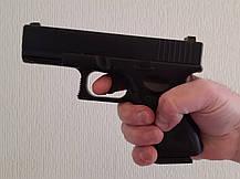 Игрушечный детский пневматический пистолет Глок 17 (Glock 17) G15 Металлический с пулями в комплекте , фото 2