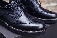 Туфли мужские натуральна кожа броги Опух, фото 1