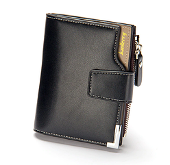 Мужской кошелек Baellerry Carteira mini C1282 Black черный, мужское портмоне, барсетка