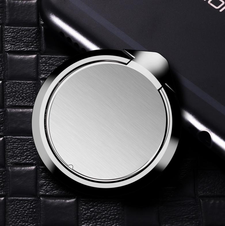 Кольцо держатель цельнометаллическое Coobowe для смартфона Черный