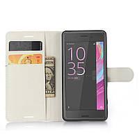 Чехол-книжка Litchie Wallet для Sony Xperia X F5122 Белый