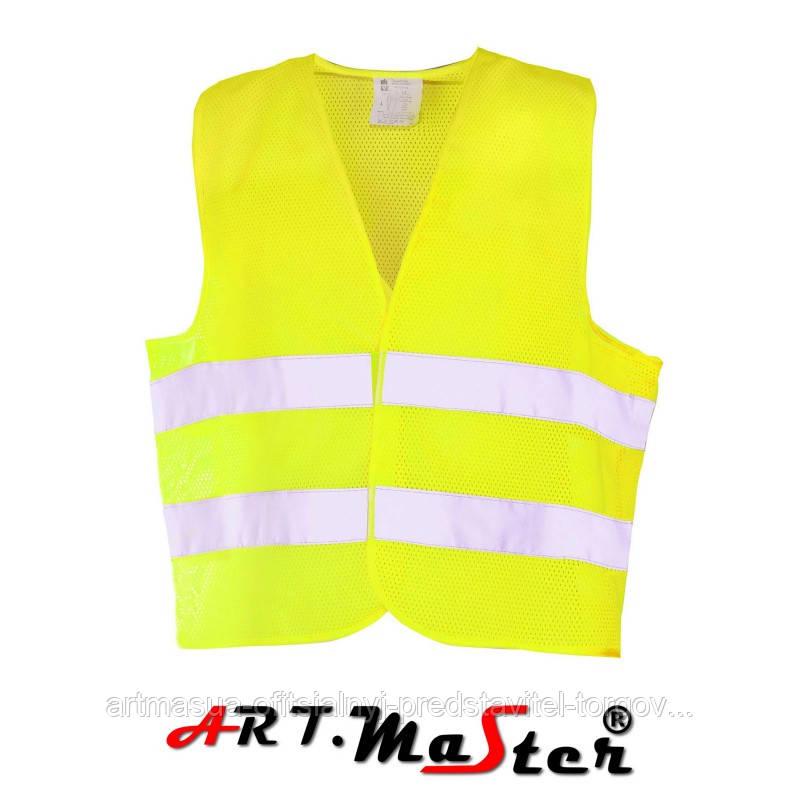 Предупреждающий жилет Kamiz. odbl.VEST2 MESH yellow желтого цвета ARTMAS