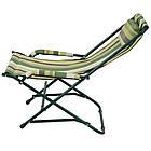 """Кресло """"Качалка"""" d20 мм (текстилен зеленая полоса), фото 3"""