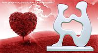 РОМАНТИЧЕСКАЯ СТАТУЭТКА ВЛЮБЛЕННЫЕ НАВСЕГДА  (ручная работа) Искусственный камень
